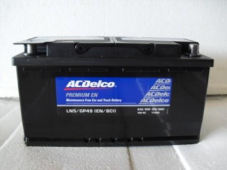 ACデルコバッテリー LN5 100A  (ボッシュSLX-1B 60038)互換品 即日発送
