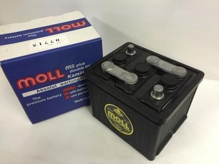 MOLLバッテリー  075 (6V 77Ah) ポルシェ 356  稀少品